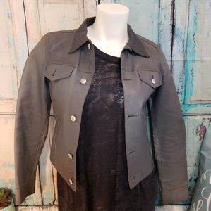 Diesel gray leather jacket womens small NWOT